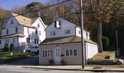 Exterior of 455 Williams Street (R) and 461 Williams Street (L)